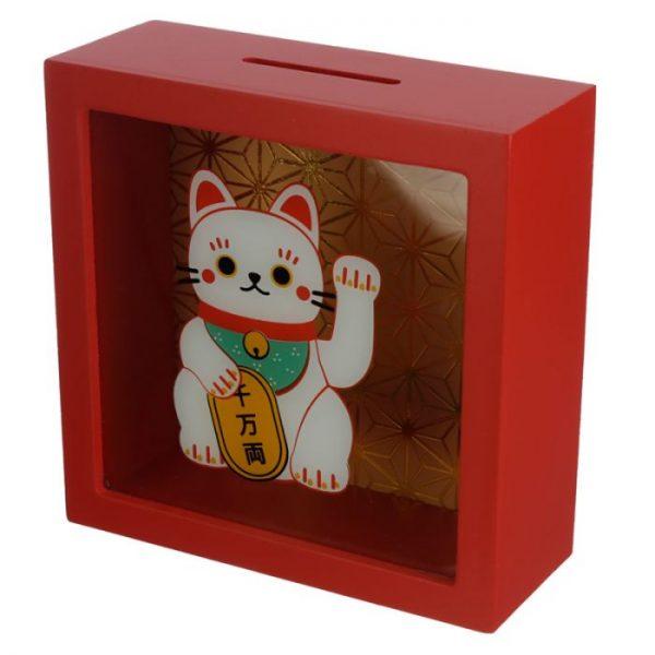 Pokladnička Maneki Neko - kočka štěstí 1 - pro milovníky koček