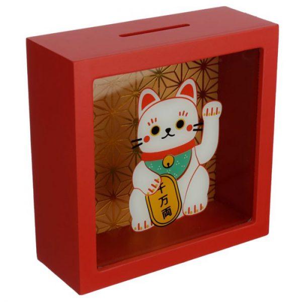 Pokladnička Maneki Neko - kočka štěstí 3 - pro milovníky koček