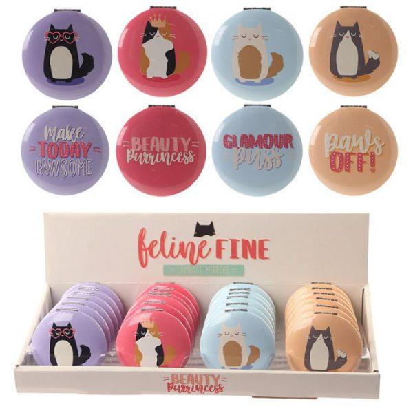 Kočka Feline Fine Kompaktní zrcátko 1 - pro milovníky koček