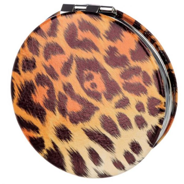 Spots & Stripes Velká Kočička Koženkové kompaktní zrcátko 4 - pro milovníky koček