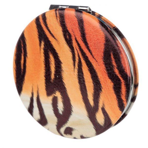 Spots & Stripes Velká Kočička Koženkové kompaktní zrcátko 5 - pro milovníky koček