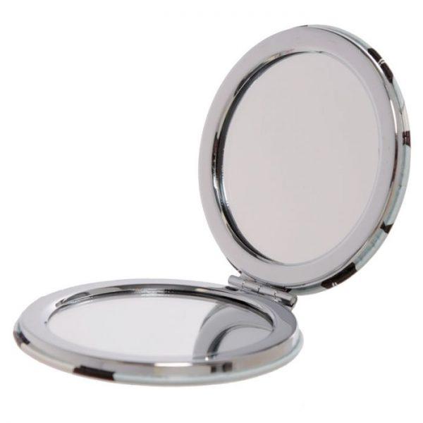 Feline Fine Cat Koženkové kompaktní zrcadlo - růžové 2 - pro milovníky koček