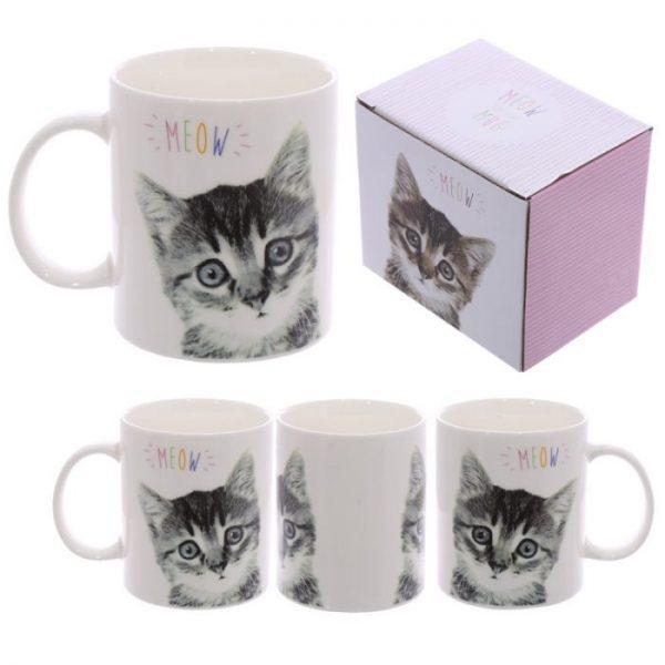MEOW Cute Kitten Porcelánový hrníček 1 - pro milovníky koček
