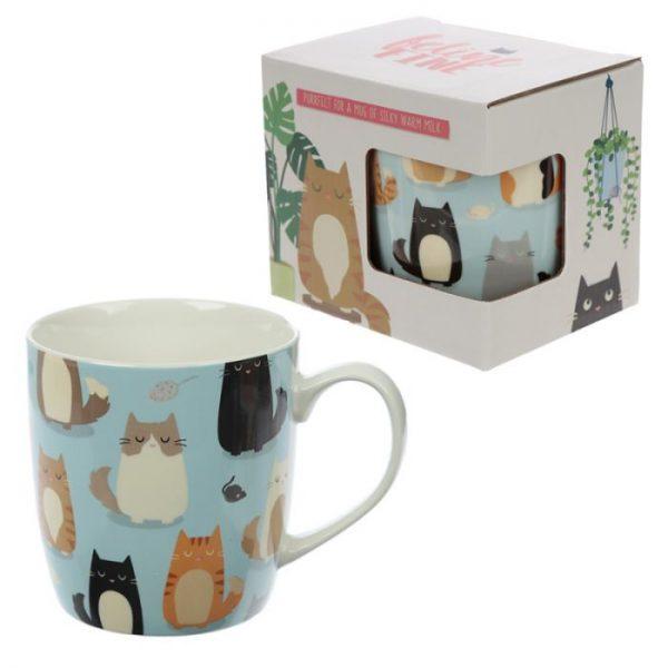 Kočka Feline Fine Porcelánový hrníček 1 - pro milovníky koček