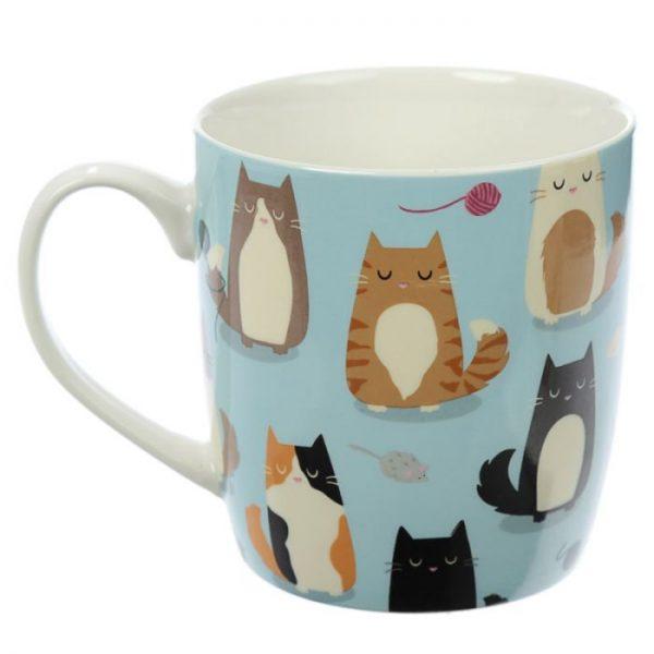 Kočka Feline Fine Porcelánový hrníček 2 - pro milovníky koček