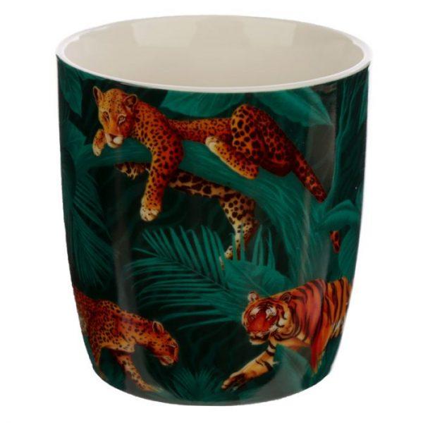Velká kočička s pruhy Porcelánový hrníček 3 - pro milovníky koček