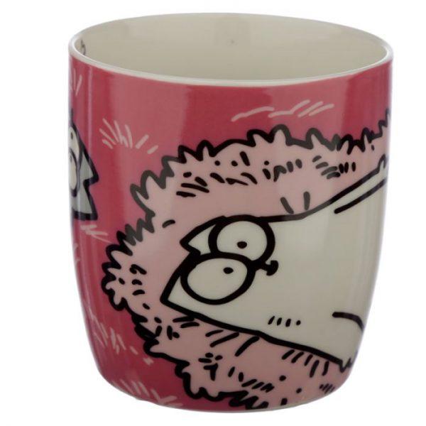 Růžový Simon's Cat Porcelánový hrníček 2 - pro milovníky koček