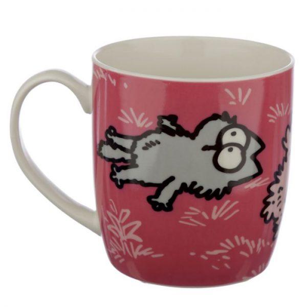 Růžový Simon's Cat Porcelánový hrníček 4 - pro milovníky koček