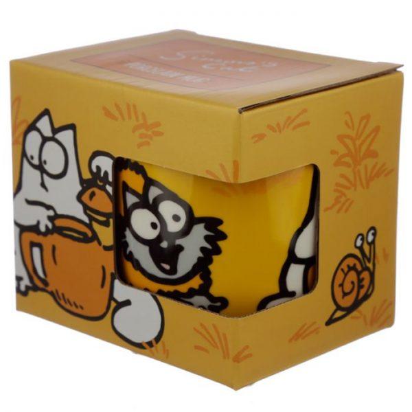 Oranžový Simon's Cat Porcelánový hrníček 4 - pro milovníky koček