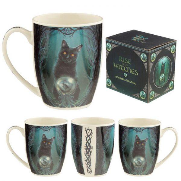 Lisa Parker Rise of the Witches Cat Porcelánový hrníček 1 - pro milovníky koček
