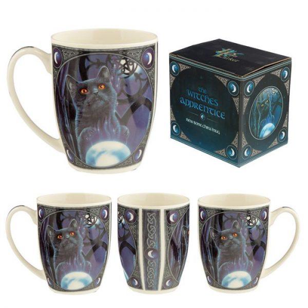 Porcelánový hrnek Čarodějnický učeň, design Lisa Parker 1 - pro milovníky koček