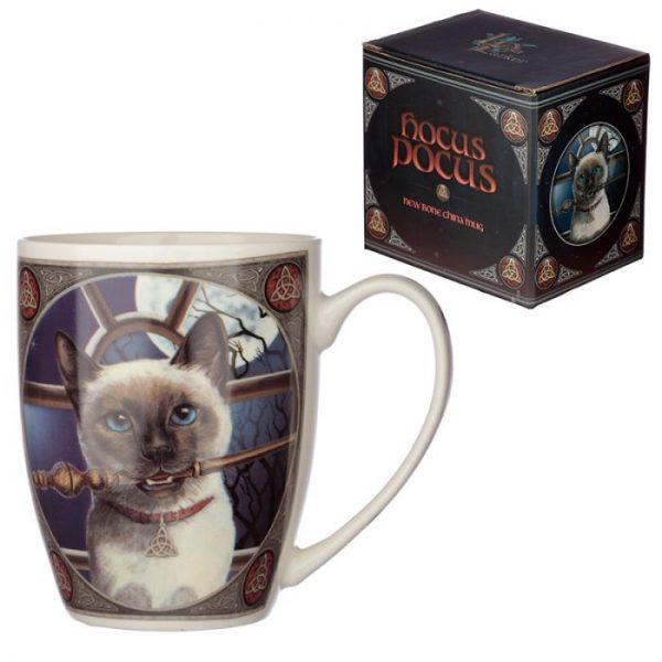 Lisa Parker kočka Hocus Pocus Porcelánový hrníček 1 - pro milovníky koček