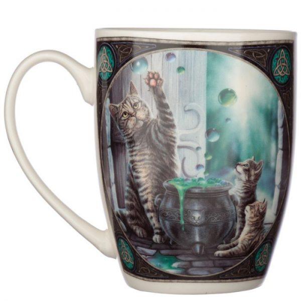 Lisa Parker Hubble Bubble Kočka a koťata Porcelánový hrníček 3 - pro milovníky koček