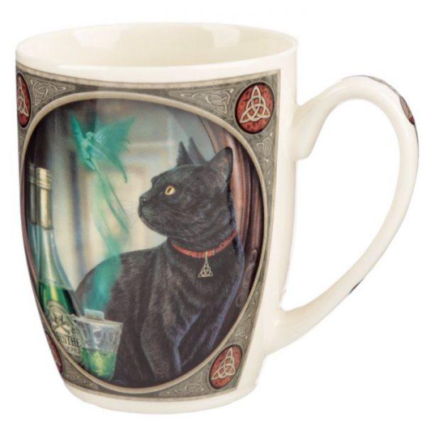 Lisa Parker Absinth a kočka Porcelánový hrníček 1 - pro milovníky koček