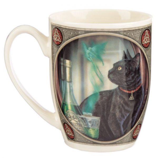 Lisa Parker Absinth a kočka Porcelánový hrníček 3 - pro milovníky koček