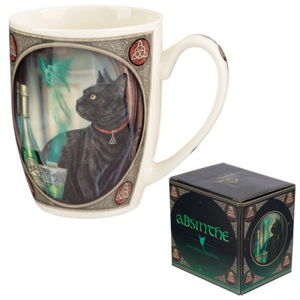 Lisa Parker Absinth a kočka Porcelánový hrníček 6 - pro milovníky koček