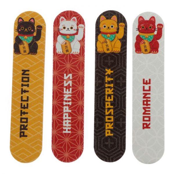 Maneki Neko - kočka štěstí sada 4 pilníků na nehty 2 - pro milovníky koček