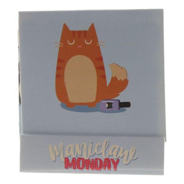 Feline Fine Cat Pilník na nehty Matchbook - růžový 5 - pro milovníky koček