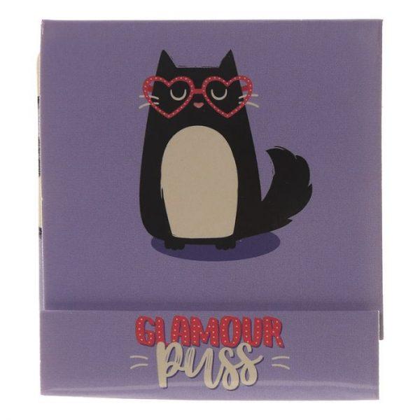 Feline Fine Cat Pilník na nehty Matchbook - růžový 4 - pro milovníky koček