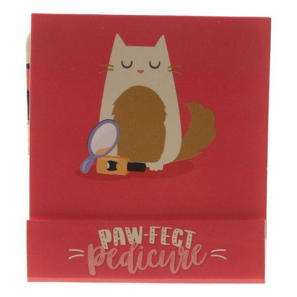 Feline Fine Cat Pilník na nehty Matchbook - růžový 9 - pro milovníky koček