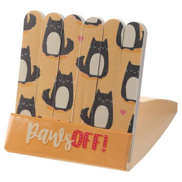 Feline Fine Cat Pilník na nehty Matchbook - růžový 8 - pro milovníky koček