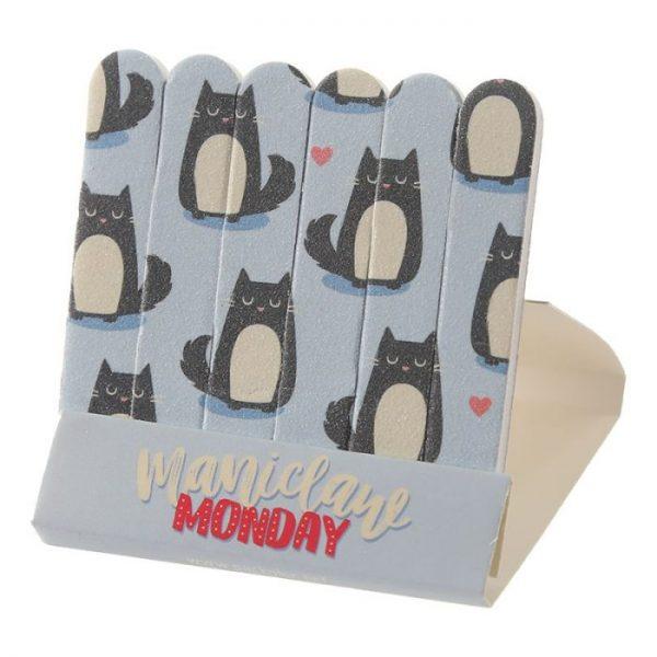 Feline Fine Cat Pilník na nehty Matchbook - růžový 2 - pro milovníky koček