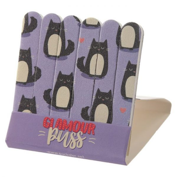 Feline Fine Cat Pilník na nehty Matchbook - růžový 7 - pro milovníky koček