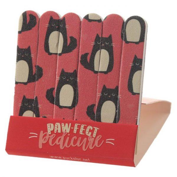 Feline Fine Cat Pilník na nehty Matchbook - růžový 1 - pro milovníky koček