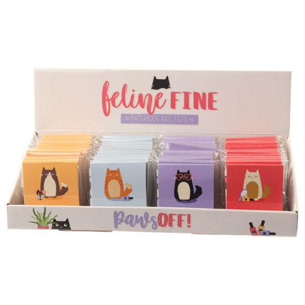 Feline Fine Cat Pilník na nehty Matchbook - růžový 6 - pro milovníky koček
