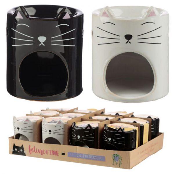 Feline Fine Ceramic Cat Head Olejová lampa 5 - pro milovníky koček