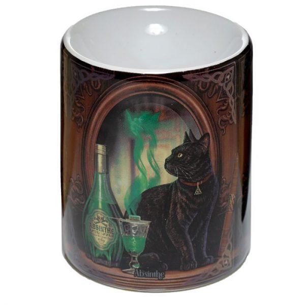 Lisa Parker Ceramic Absinth a kočka Olejová lampa 1 - pro milovníky koček