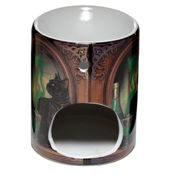 Lisa Parker Ceramic Absinth a kočka Olejová lampa 3 - pro milovníky koček