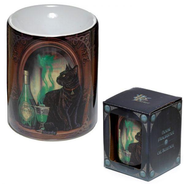 Lisa Parker Ceramic Absinth a kočka Olejová lampa 2 - pro milovníky koček