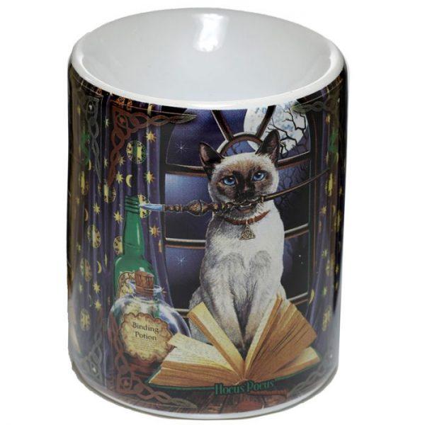 Lisa Parker Keramická aromalampa s motivem kočičky Hocus Pocus 1 - pro milovníky koček