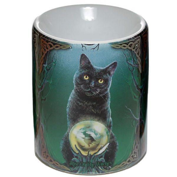 Keramická aromalampa Magická kočka - design Lisa Parker 1 - pro milovníky koček