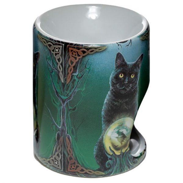 Keramická aromalampa Magická kočka - design Lisa Parker 3 - pro milovníky koček