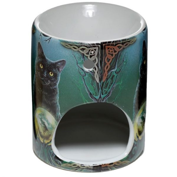 Keramická aromalampa Magická kočka - design Lisa Parker 2 - pro milovníky koček