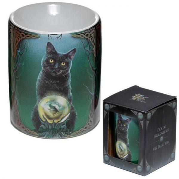 Keramická aromalampa Magická kočka - design Lisa Parker 4 - pro milovníky koček