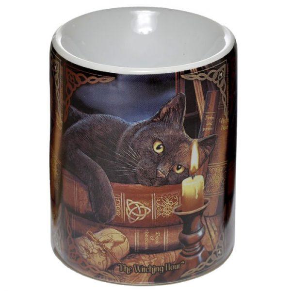 Lisa Parker Keramická aromalampa s kočkou a knihami 1 - pro milovníky koček