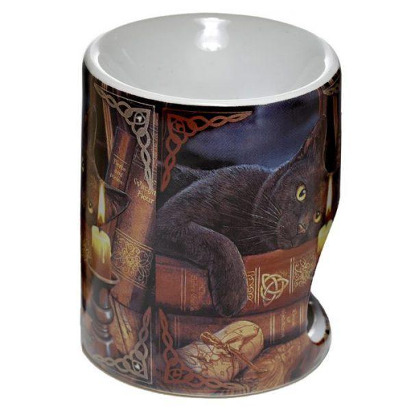 Lisa Parker Keramická aromalampa s kočkou a knihami 3 - pro milovníky koček