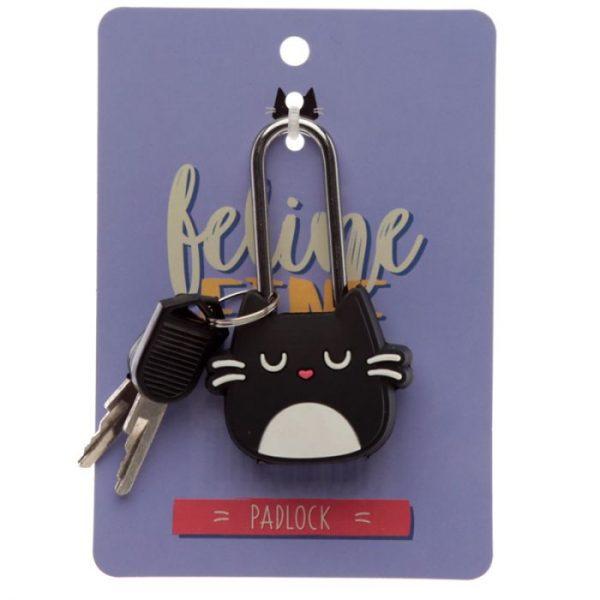 Kočka Feline Fine Travel, Mini visací zámek na skříňky a zavazadla 1 - pro milovníky koček
