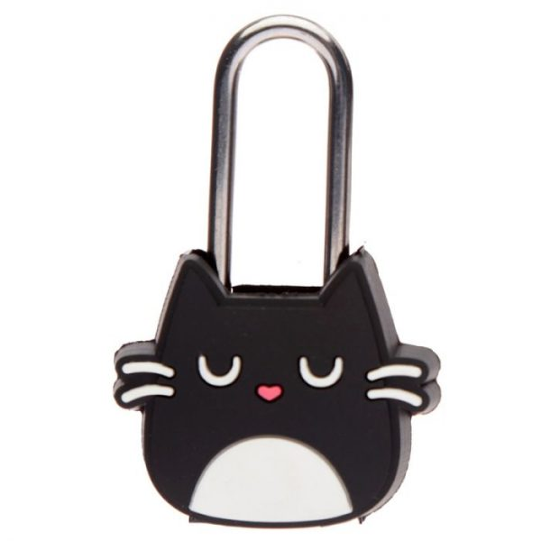 Kočka Feline Fine Travel, Mini visací zámek na skříňky a zavazadla 2 - pro milovníky koček