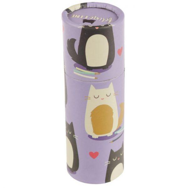 Kočka Feline Fine pastelky v pouzdru 4 - pro milovníky koček