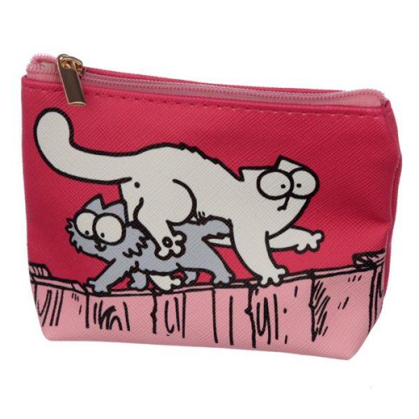 Peňaženka na mince Simon's cat rúžová 1 - pro milovníky koček