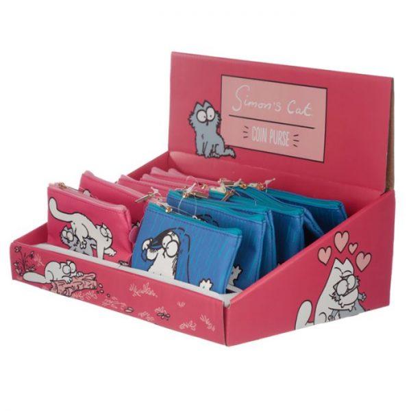 Peňaženka na mince Simon's cat rúžová 2 - pro milovníky koček