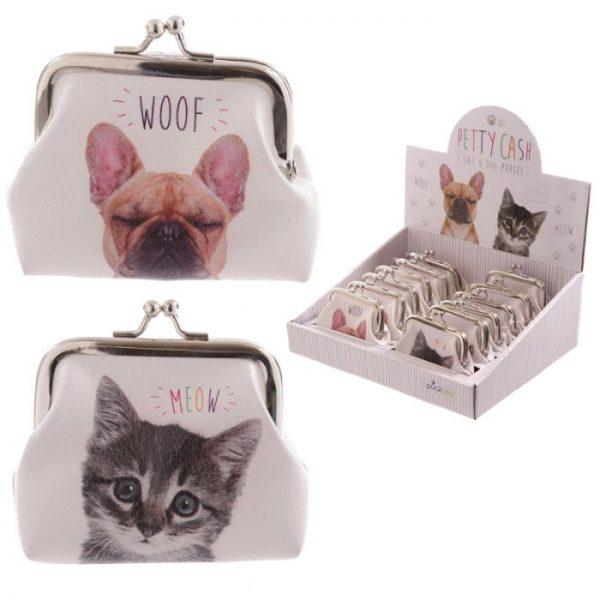 Kočka a pes MEOW WOOF Tic Tac Peněženka 1 - pro milovníky koček