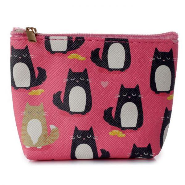Peněženka s kočičkami Feline Fine růžová 1 - pro milovníky koček