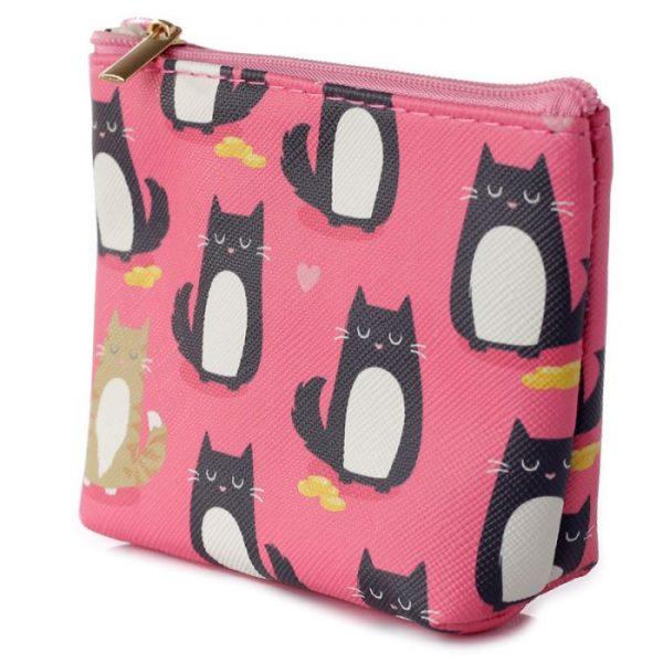 Peněženka s kočičkami Feline Fine růžová 4 - pro milovníky koček