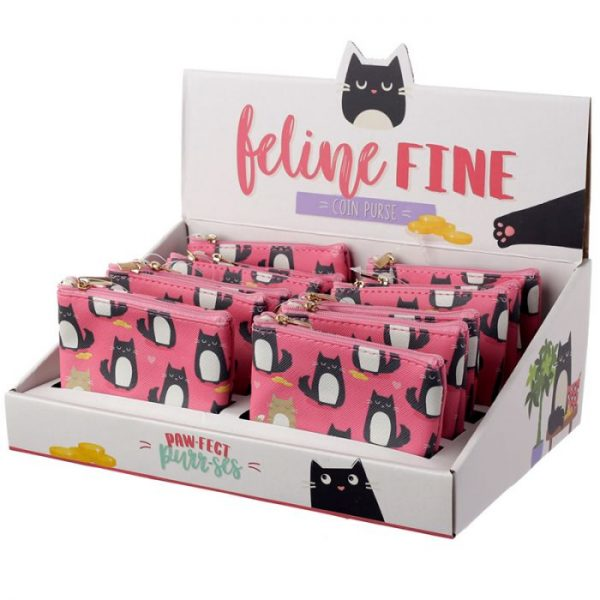 Peněženka s kočičkami Feline Fine růžová 2 - pro milovníky koček