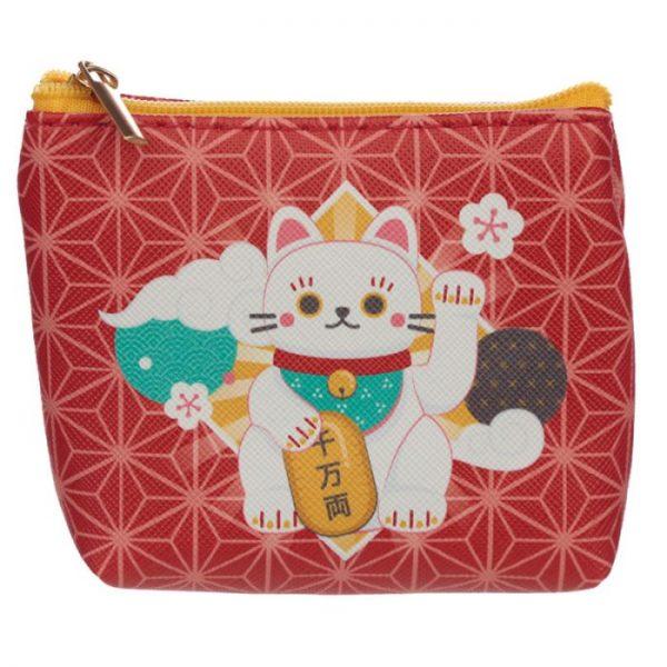 Maneki Neko - kočka štěstí PVC Peněženka 2 - pro milovníky koček